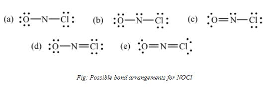 NOCl bond arrangement