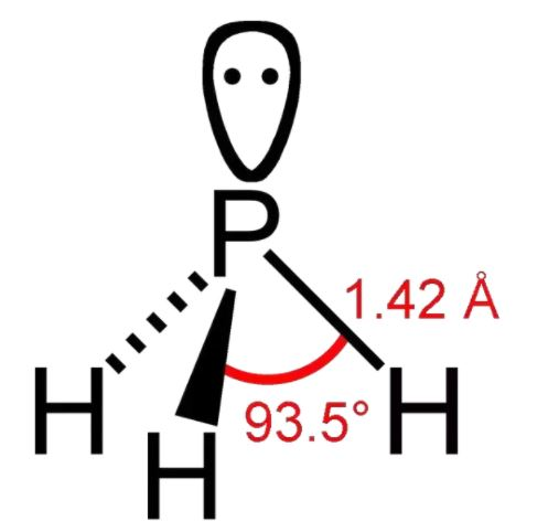 PH3 bond angle