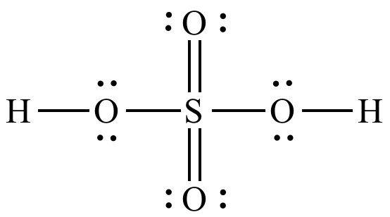 H2SO4 lewis structure