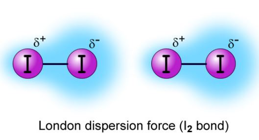 Iodine despersion force