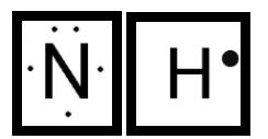 lewis structue of N and H