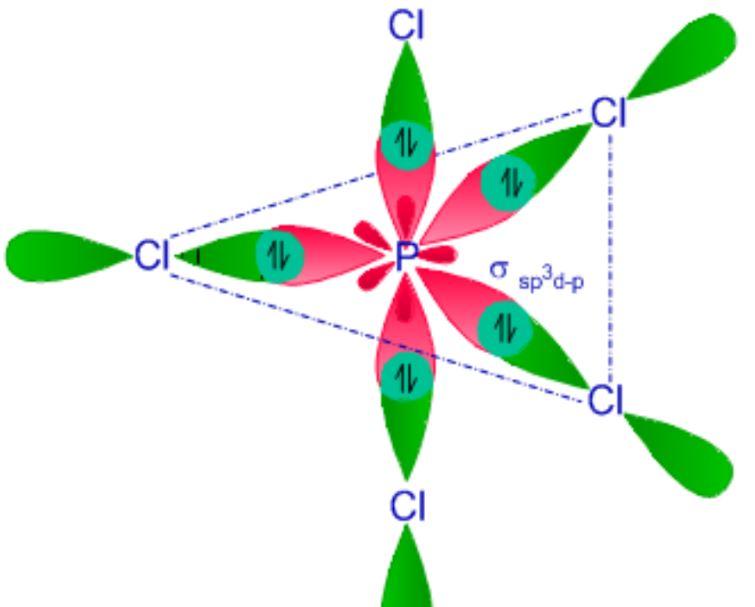 PCl5 hybridization