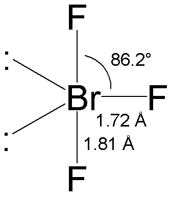 BrF3 geometry