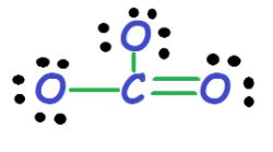 CO32- electron dot structure