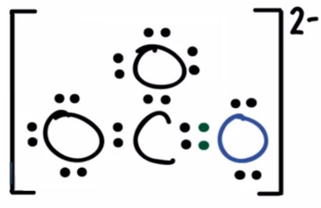 CO32- lewis structure