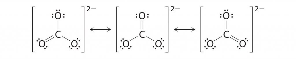 CO32- resonance structures