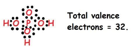 H3PO4 valence electrons