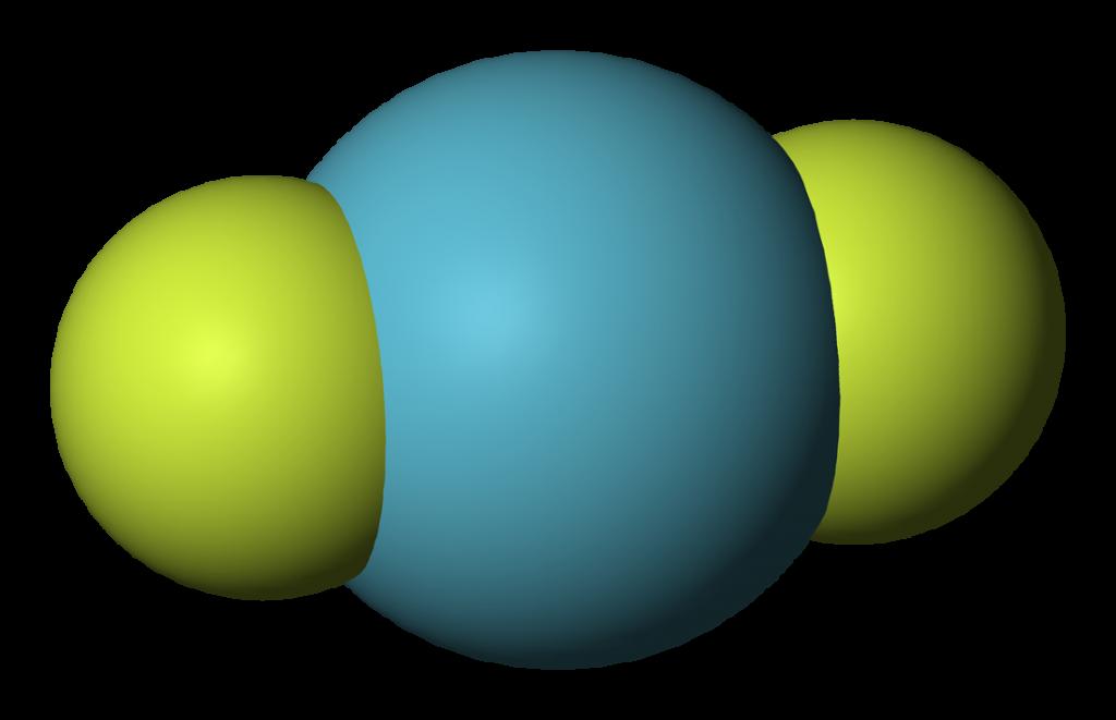 KrF2 geometry