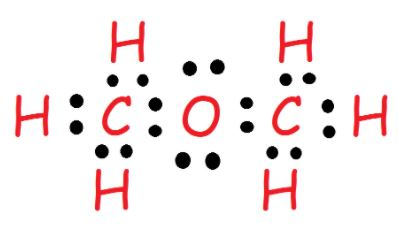 CH3OCH3 valence electrons