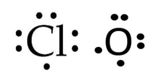 Cl and O valence electrons