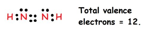 N2H2 valence electrons
