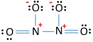 N2O4 lewis structure