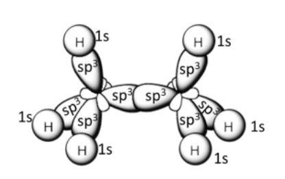 C2H6 hybridization