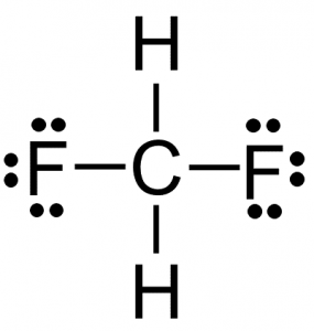 CH2F2 lewis structure