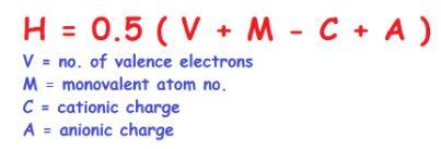 Hybridization formulae