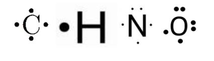 Lewis structure of C,H,N
