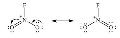NO2F resonance structure