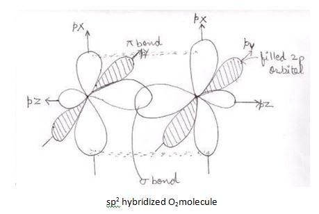 O2 hybridization