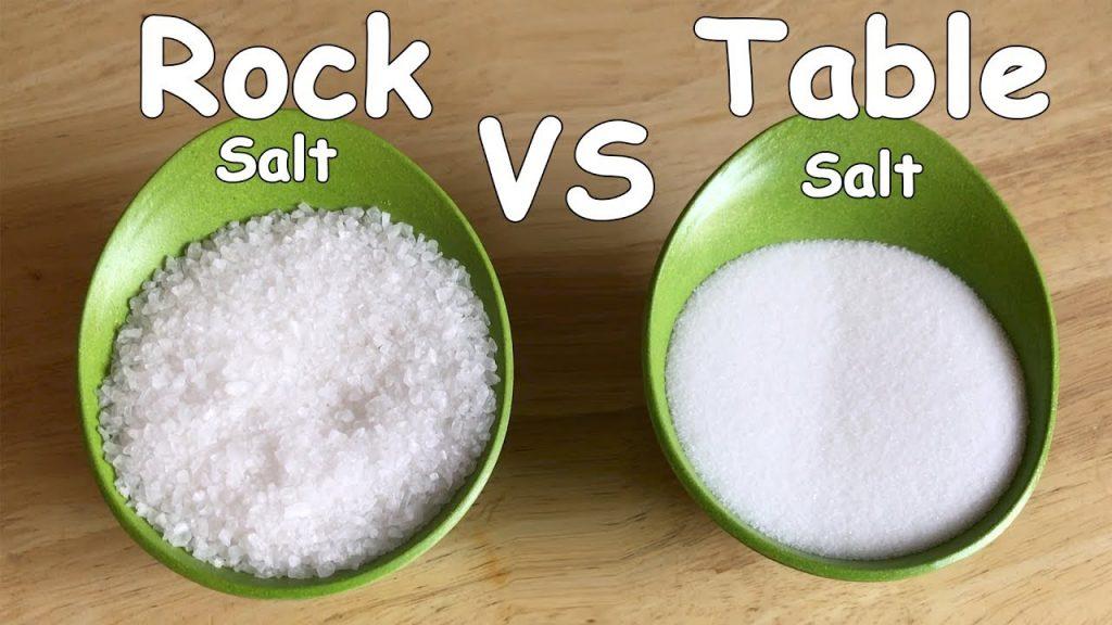 Rock salt vs Table Salt