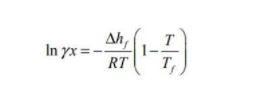 Solubility formula