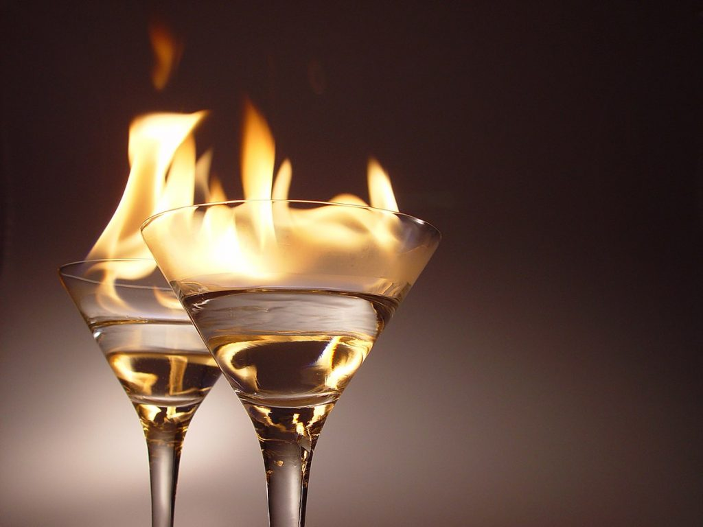 alcohol flammable