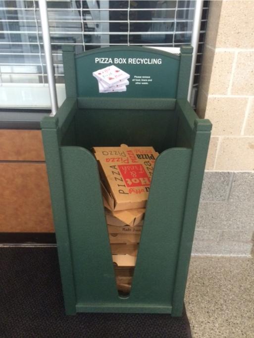 Pizza Box Recycling Bin