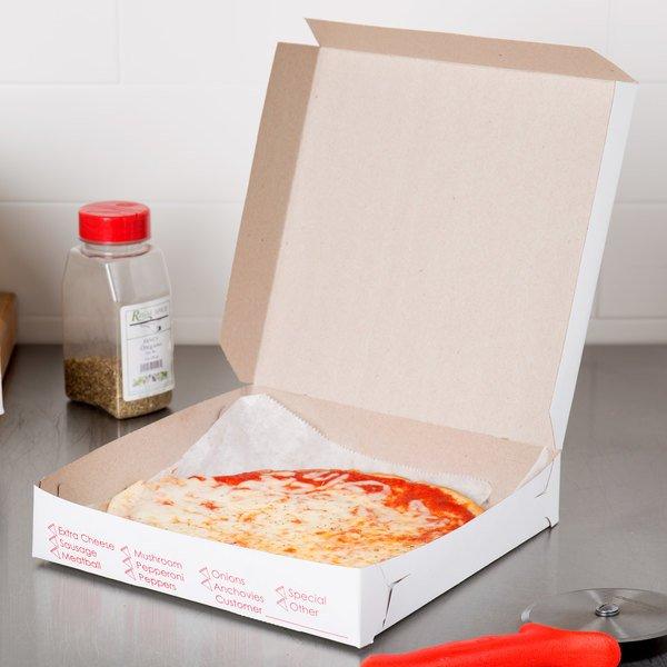 Wax Coated pizza box
