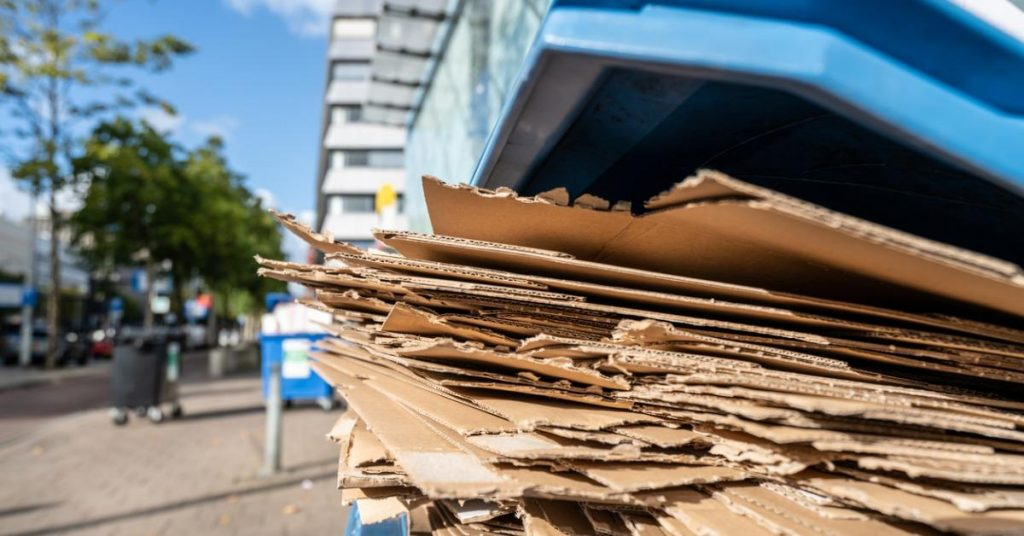 Wet Cardboard recycling