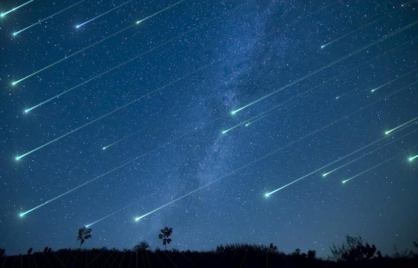 Meteors shower