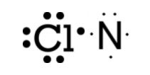 lewis structure of Cl and N